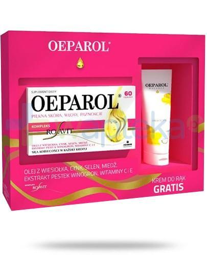 Oeparol piękna skóra, włosy i paznokcie 60 kapsułek + Oeparol Balance krem do rąk 75 ml