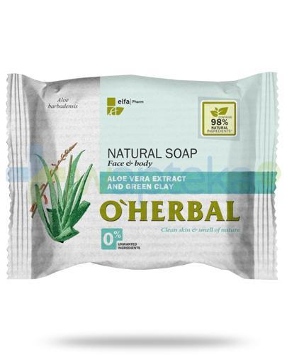 O'Herbal naturalne mydło z ekstraktem z aloesu i zieloną glinką 100 g Elfa Pharm
