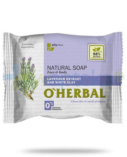 O'Herbal naturalne mydło z ekstraktem z lawendy i białą glinką 100 g Elfa Pharm