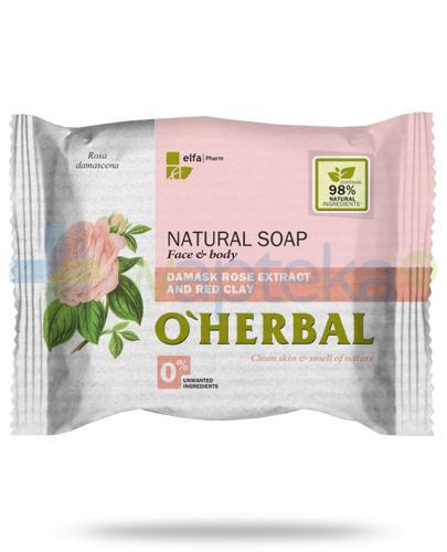 O'Herbal naturalne mydło z ekstraktem z róży damasceńskiej i czerwoną glinką 100 g Elfa Pharm