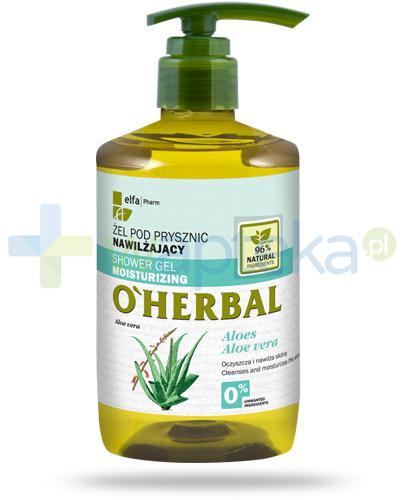 O'Herbal nawilżający żel pod prysznic z ekstraktem z aloesu 750 ml Elfa Pharm