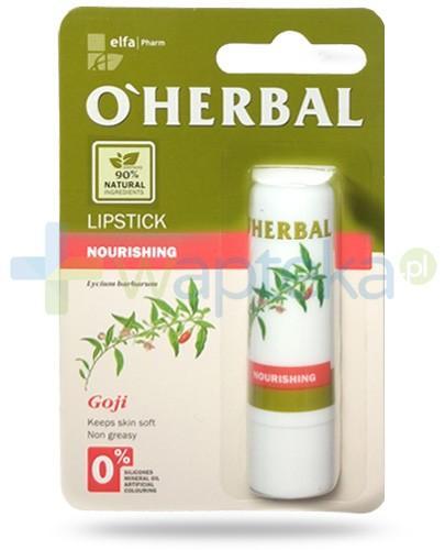 O'Herbal odżywcza nietłusta pomadka bezbarwna z ekstraktem goji 4,8 g Elfa Pharm