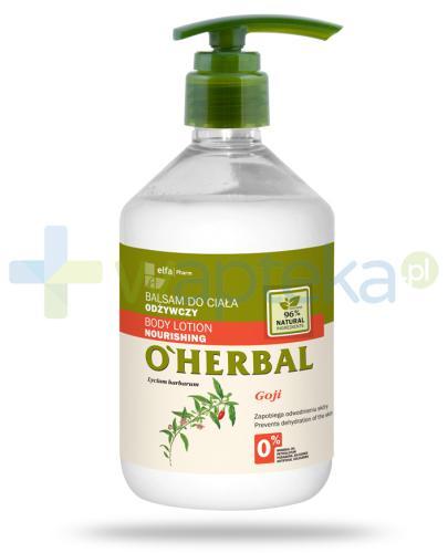 O'Herbal odżywczy balsam do ciała z ekstraktem z goji 500 ml Elfa Pharm