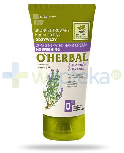O'Herbal odżywczy skoncentrowany krem do rąk z ekstraktem z lawendy 50 ml Elfa Pharm
