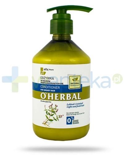 O'Herbal Odżywka do włosów przetłuszczających się z ekstraktem z mięty 500 ml Elfa Pharm