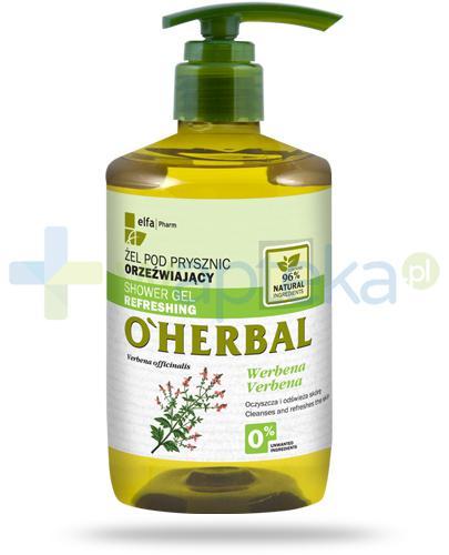 O'Herbal orzeźwiający żel pod prysznic z ekstraktem z werbeny 750 ml Elfa Pharm