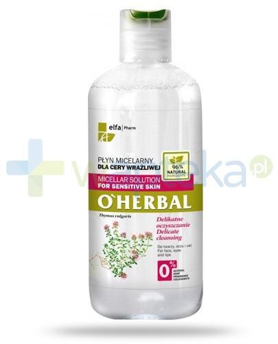 O'Herbal płyn micelarny delikatnie oczyszczający dla cery wrażliwej z ekstraktem z tymianku 250 ml Elfa Pharm