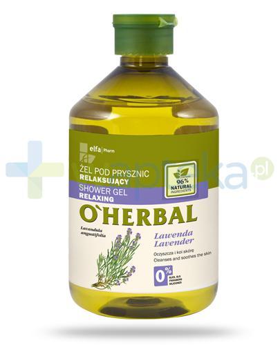 O'Herbal relaksujący żel pod prysznic z ekstraktem z lawendy 500 ml Elfa Pharm