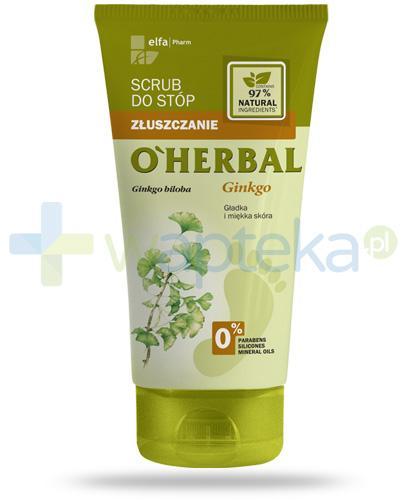 O'Herbal scrub do stóp z ekstraktem z ginkgo biloba 150 ml Elfa Pharm