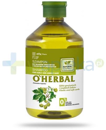 O'Herbal szampon do włosów kręconych i niezdyscyplinowanych z ekstraktem z chmielu 500 ml Elfa Pharm