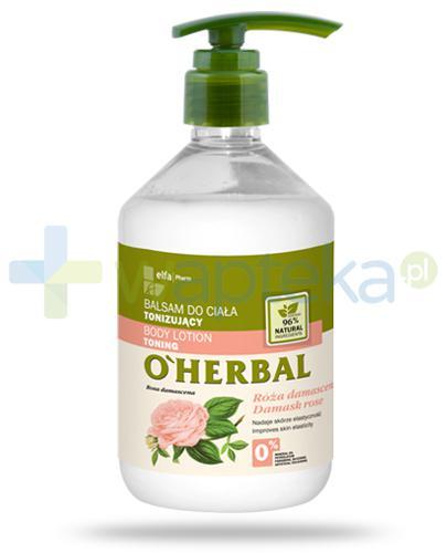 O'Herbal tonizujący balsam do ciała z ekstraktem z róży damasceńskiej 500 ml Elfa Pharm