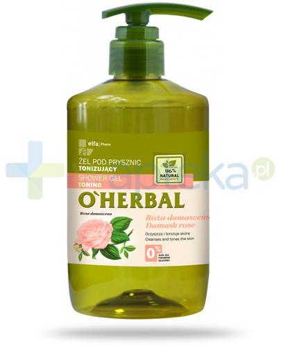 O'Herbal tonizujący żel pod prysznic z ekstraktem z róży damasceńskiej 750 ml Elfa Pharm