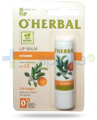 O'Herbal witaminowy nietłusty balsam SPF15 do ust z olejkiem pomarańczowym 4,8 g Elfa Pharm