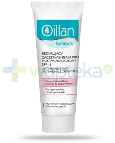 Oillan Balance krem przeciwzmarszczkowy SPF15 redukujący zaczerwienienia 40 ml + Oillan hydroaktywny żel pod oczy 15 ml [GRATIS]