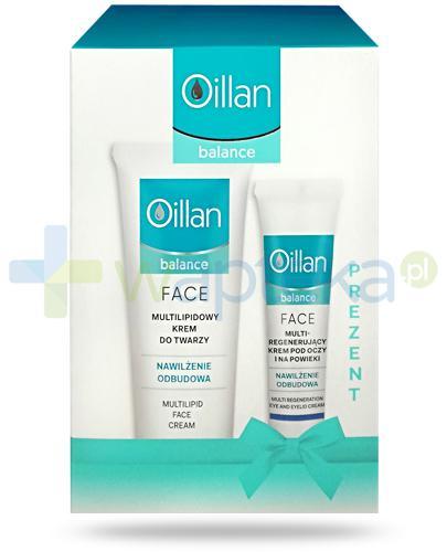Oillan Balance Face, multilipidowy krem do twarzy 40 ml + multiregenerujący krem pod oczy i na powieki 15 ml [ZESTAW]