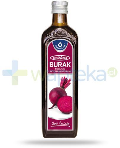 Oleofarm betaVital Burak 100% sok z buraka 490 ml