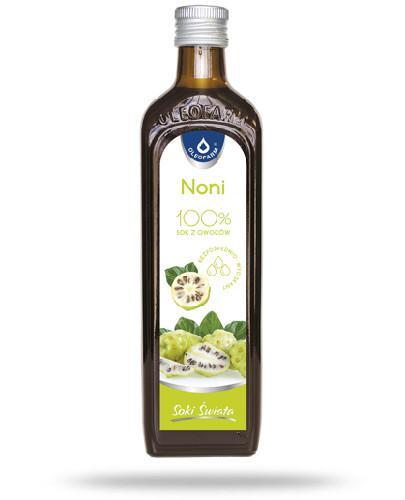 Oleofarm Noni 100% sok z owoców pasteryzowanych noni 490 ml
