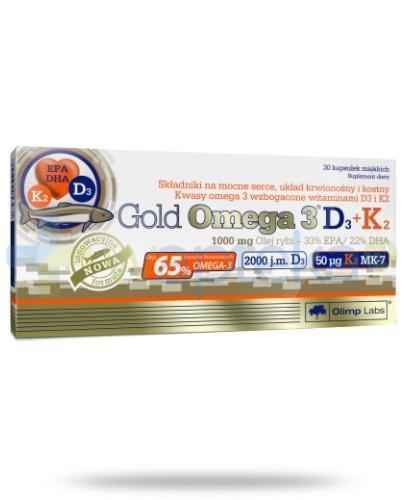 OLIMP Gold Omega 3 D3+K2 30 kapsułek