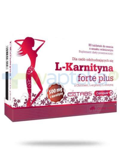 Olimp L-Karnityna Forte Plus 500 mg smak wiśniowy 80 tabletek