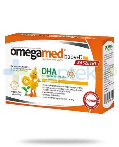 Omegamed Baby D DHA + witamina D dla niemowląt i dzieci 30 saszetek - NIELOT