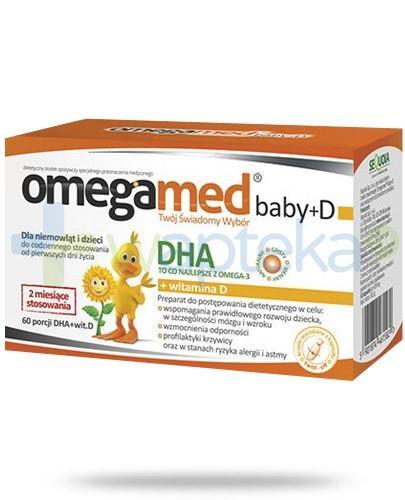 Omegamed Baby D DHA + witamina D dla niemowląt i dzieci 60 kapsułek