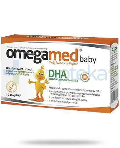 Omegamed Baby DHA dla niemowląt i dzieci 30 kapsułek