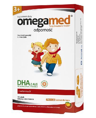 Omegamed Odporność DHA z ALG dla dzieci 3+ 30 pastylek żelowych
