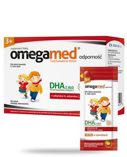 Omegamed Odporność DHA z ALG płyn dla dzieci 1+ 30 saszetek