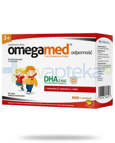 Omegamed Odporność DHA z ALG płyn dla dzieci 3+ 30 saszetek