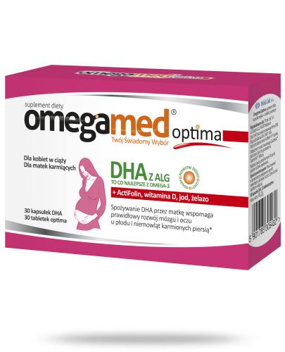 Omegamed Optima DHA z ALG dla kobiet w ciąży i karmiących 60 kapsułek