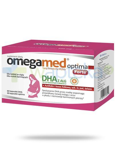 Omegamed Optima Forte DHA z ALG dla kobiet w ciąży i karmiących 90 kapsułek
