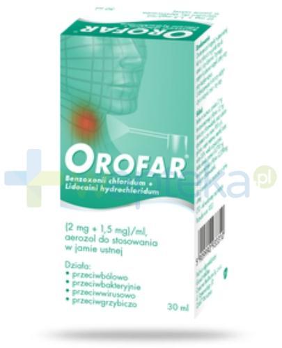 Orofar aerozol do stosowania w jamie ustnej 30 ml
