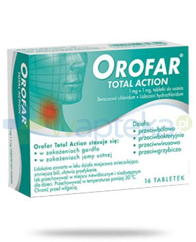 Orofar tabletki do ssania na ból gardła - 16 sztuk [Data ważności 31-01-2019]