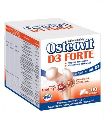 Osteovit D3 Forte wapń i witamina D 100 tabletek