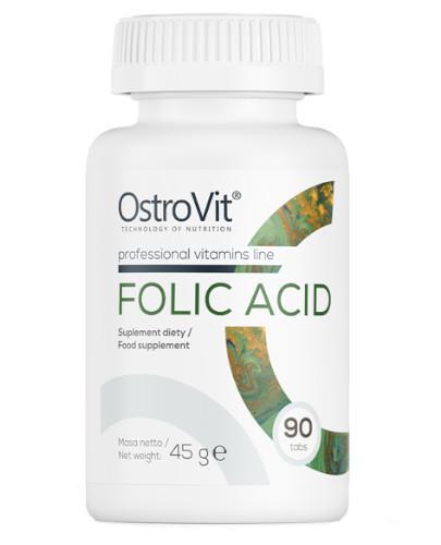 OstroVit Folic Acid 90 tabletek - kwas foliowy