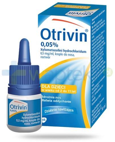 Otrivin 0,05% krople do nosa 10 ml - Data ważności 28-02-2017