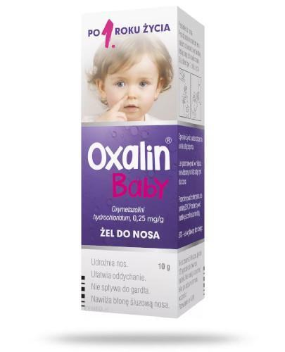 Oxalin Baby 0,25mg/g żel do nosa dla dzieci 1+ 10 g