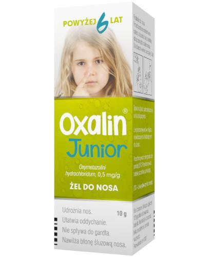 Oxalin Junior 0,5mg/g żel do nosa 10 g