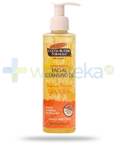 Palmers Cocoa Butter delikatny olejek oczyszczający do twarzy 192 ml