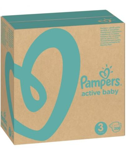 Pampers Active Baby 3 pieluchy 6-10 kg 208 sztuk