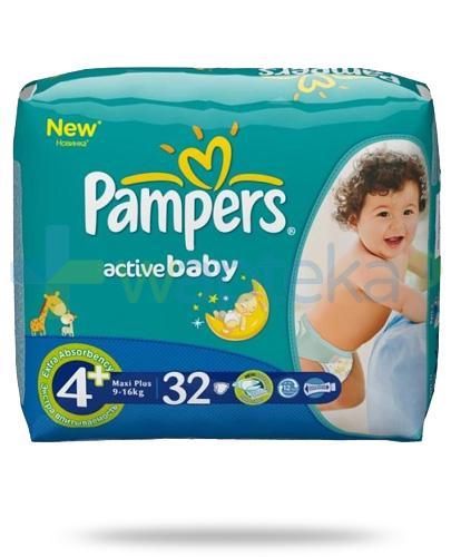 Pampers Active Baby Maxi Plus pieluchy dla dzieci 4m+ 9-16kg 32 sztuki
