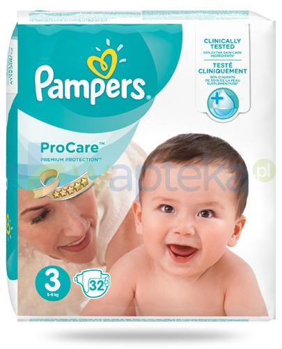 Pampers ProCare 3 pieluchy dla niemowląt 5-9kg 32 sztuki