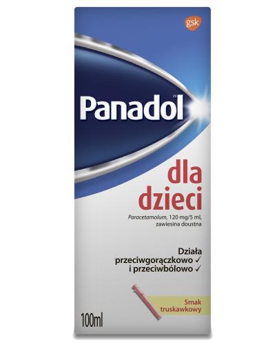 Panadol dla dzieci lek przeciwbólowy - 100 ml