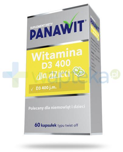 Panawit witamina D3 400 dla dzieci 3+ 60 kapsułek [Data ważności 31-05-2019]