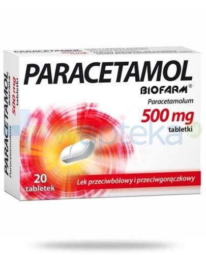 Paracetamol BIOFARM 500mg 20 tabletek