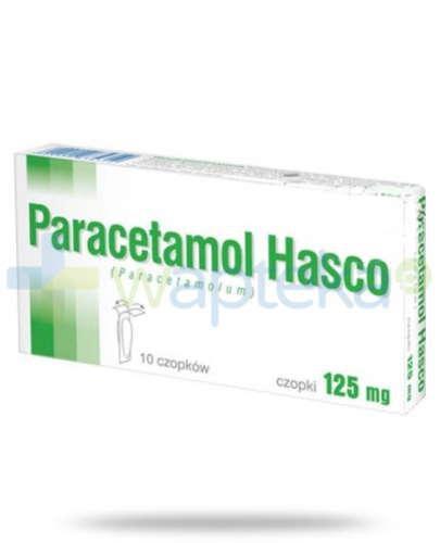 Paracetamol czopki 125 mg 10 sztuk Hasco