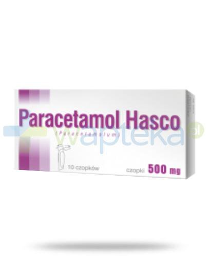 Paracetamol czopki 500 mg 10 sztuk HASCO
