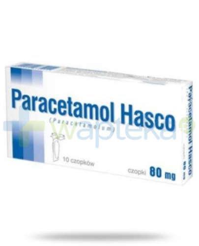 Paracetamol czopki 80 mg 10 sztuk Hasco