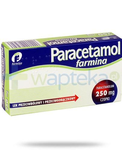 Paracetamol Farmina czopki 250mg 10 sztuk