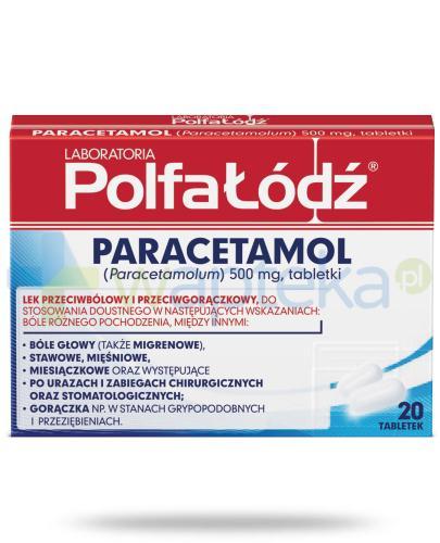Paracetamol Laboratoria Polfa Łódź 500mg 20 tabletek